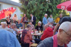 Wahlkampfabschluss am Lilienweg
